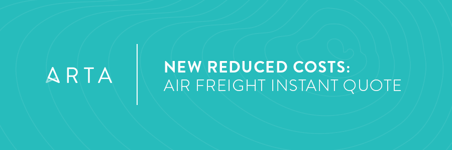 Announcing Lower Pricing on International Air Freight Instant Quotes