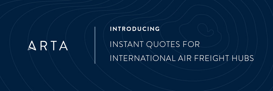 Introducing Instant Quotes for International Air Freight Hubs